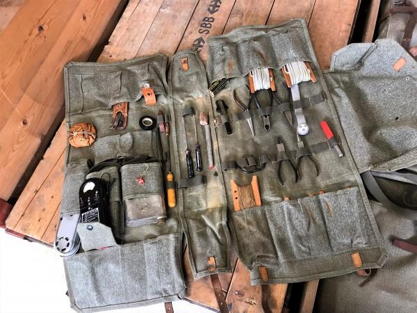 Schweizer Armee - Fernmelde / Funk Werkzeugsatz ohne Lötlampe