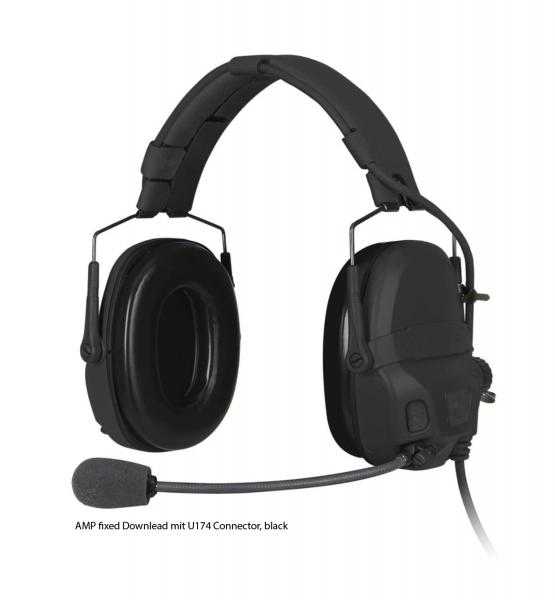 Ops-Core AMP black NFMI Connectorized Multicam